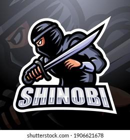Shinobi mascot esport logo design