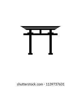 Shinto Torii sign icon. Element of religion sign icon for mobile concept and web apps. Detailed Shinto Torii icon can be used for web and mobile on white background