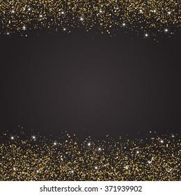 Shiny background, glitter, gold powder, vector illustration, glowing backdrop
