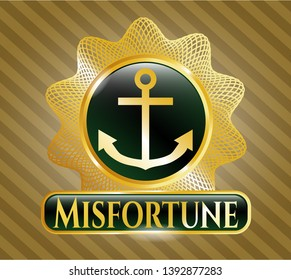 Shiny badge with anchor icon and Misfortune text inside