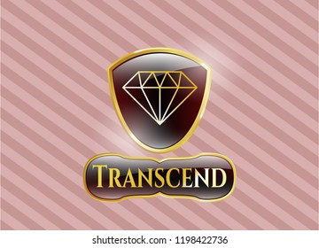 Shiny badge with diamond icon and Transcend text inside