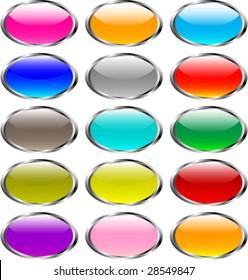 shiny button set (NO LENS or TRANSPARENT)