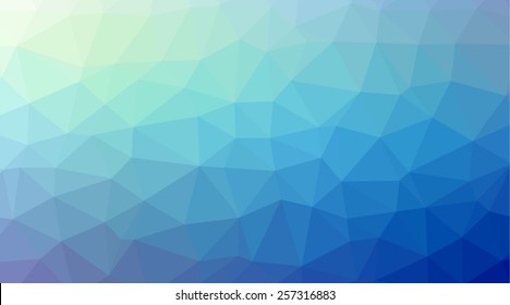 Shiny and colorful blue low poly geometrical background, great as a wallpaper, design template, flyer, etc