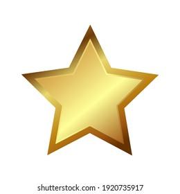 Shiny  and flickering golden star
