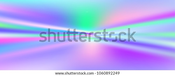 Shiny foil paper. Holographic Vector Background. Iridescent Foil. Glitch Hologram. Pastel neon rainbow. Ultraviolet metallic paper.  Cover to web design.  Abstract colorful gradient.