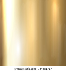 Shiny gold brushed metal texture background