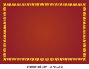 shiny gold designed with red color background for chinese new year seasons greeting card wallpaper border