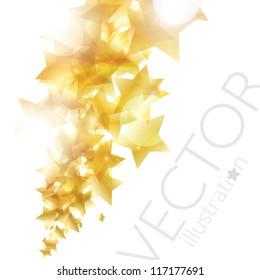 Shiny golden stars background vector eps10