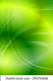 Shiny green iridescent wavy background. Vector design