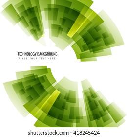 Shiny green technology background