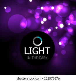 Shiny light abstract design template