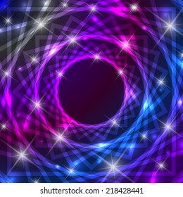Shiny magical symbol background with glittering effect