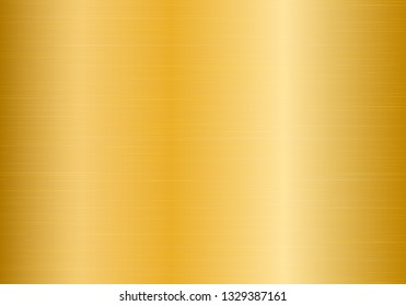 Shiny metal plate with golden texture