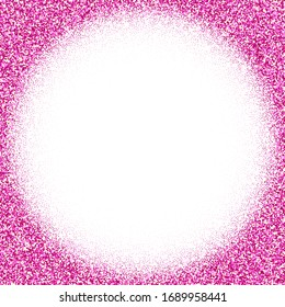 Shiny pink circles isolated on a white background. frame