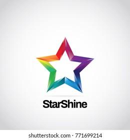 Shiny Rainbow Logo Symbol Icon