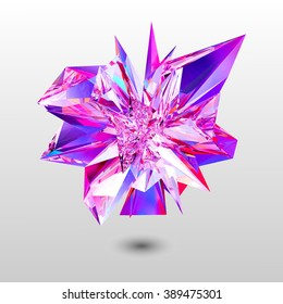 Shiny Random Pyramid Particles for an Abstract Presentation logo cristal.3D Object.