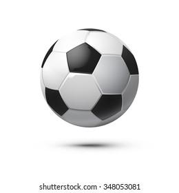 Shiny Soccer Ball. Vector Illustration.