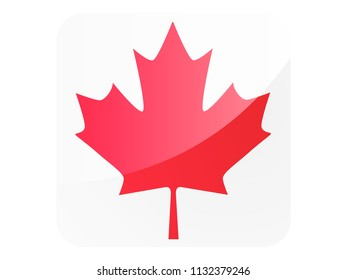 Shiny Square Flag of Canada