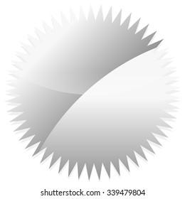 Shiny starburst, price flash shape on white.