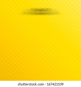Shiny and stylish golden background. Abstract geometric orange & yellow background for designs, cover works etc.