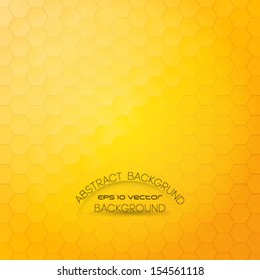 Shiny and stylish honeycomb background. Abstract geometric orange background for designs, cover works etc.