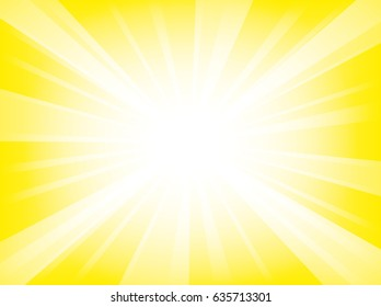 Shiny sun background. Vector illustration.