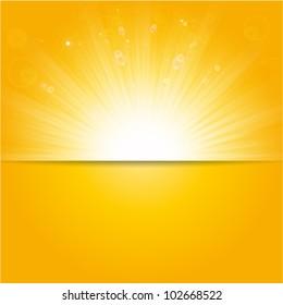 shiny sunburst vector, sunbeams, sunrays