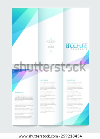 Shiny Tri Fold Brochure Template Flyer Stock Vector Royalty Free - Fold brochure template