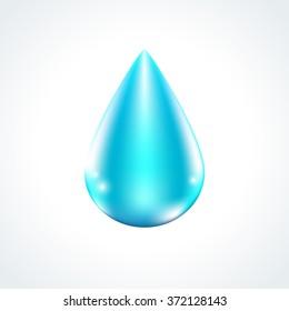 Shiny vector blue water drop