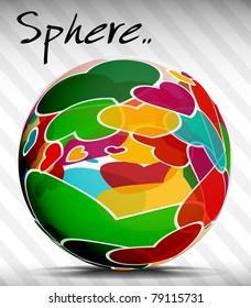 Shiny vector sphere circles for speech , editable illustration