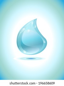 shiny water droplet vector