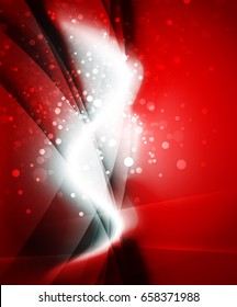 Shiny wave, magic light effect vector abstract background