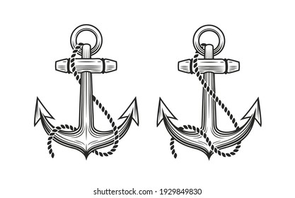 Ship anchor symbol. Nautical concept vector illustration