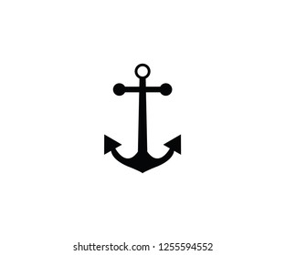 Ship anchor symbol sea logo