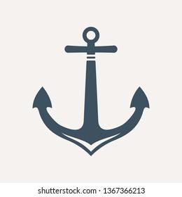 Ship anchor vector icon.
