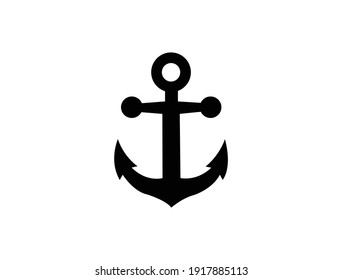 Ship or boat anchor flat vector icon for apps and websites