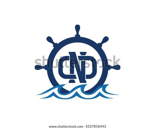 Ship Boat Helm Steering Wheel Initial Stock Vector (Royalty Free