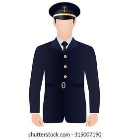 Ship captain in uniform