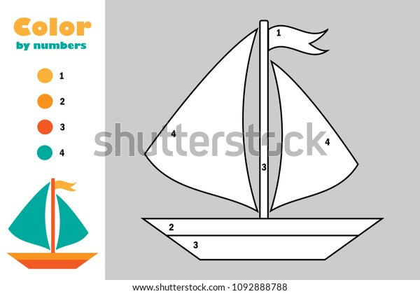Cute Sailboat coloring page for kids, transportation coloring ... | 420x600