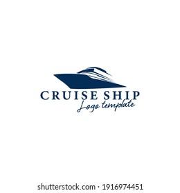Ship, Cruise and Boat Logo Design Template Vector