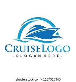 Ship  and Cruise Logo Design inspiration Vector