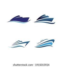 Ship and Cruise Logo Design Vector