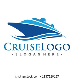 Ship, Cruise and Marine Logo Design Inspiration Vector