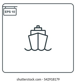 Ship front view Icon, Vector