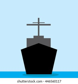 ship front view-vector