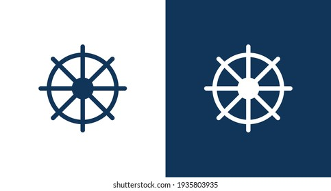 ship helm icon illustration isolated vector sign symbol