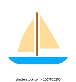 ship icon, cruise ship - vector boat illustration, sea travel symbol