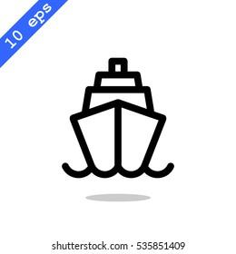 Ship icon Flat.