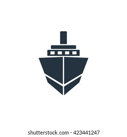 ship icon front