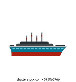 Ship icon isolated on white background vector illustration